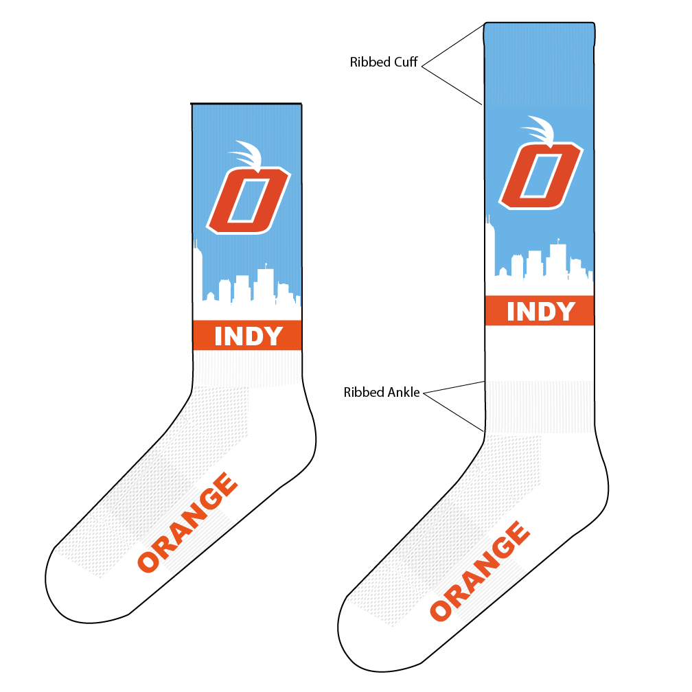 2021 Player Game Socks - Blue (Mid-Calf or Knee-High)