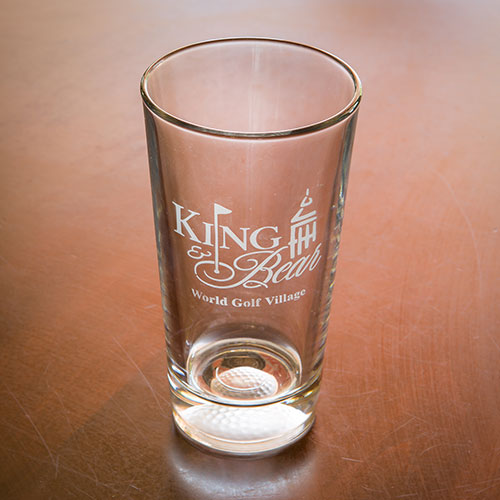 Sterling Cut Pint Glass - King & Bear
