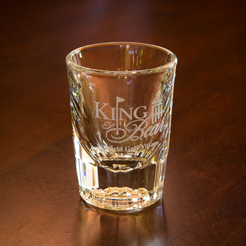 Sterling Cut Shot Glass - King & Bear