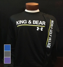 Mens King & Bear Under Armour Tech Long Sleeve T-Shirt
