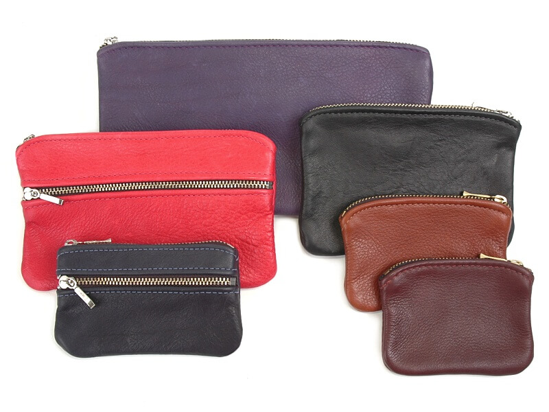 Zip Leather Pouches