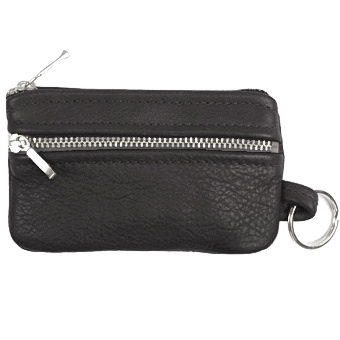 Double Zip Key Ring Pouch