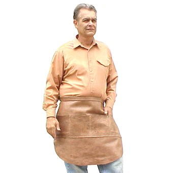Heavy-Duty Pocketed Half Apron