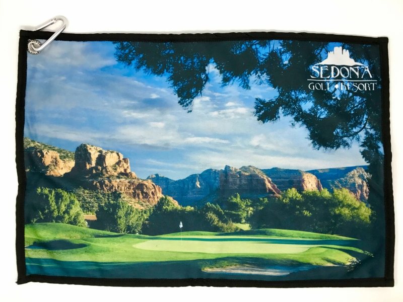 Photo towel of the 12th hole