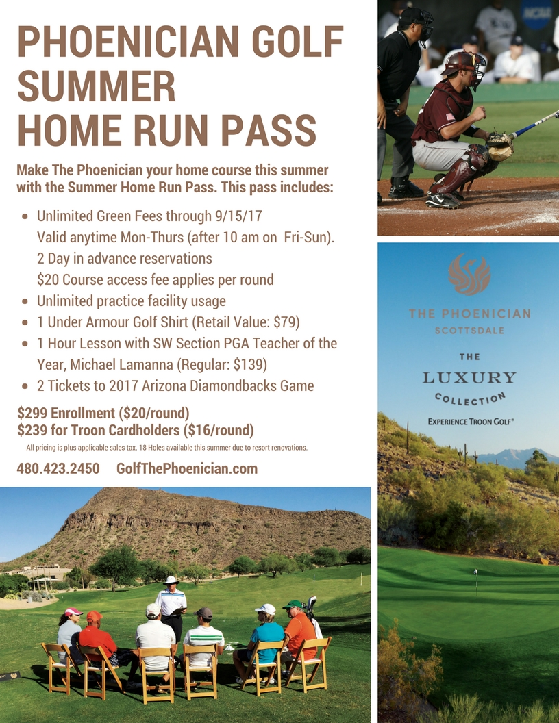 Make The Phoenician Your Home Scottsdale Golf Course This Summer!