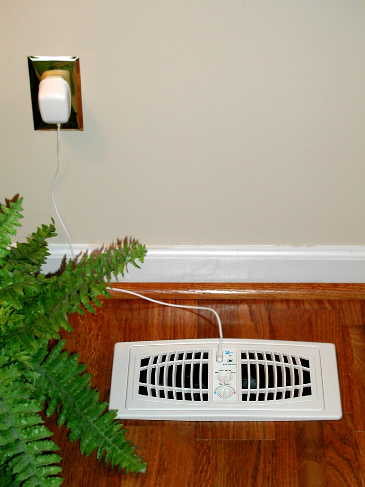 "AirFlow Breeze Register Booster Fan (4"" x 12"") Almond Floor Unit"