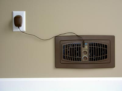 The AirFlow Breeze Register Booster Fan includes a standard 6-ft cord.