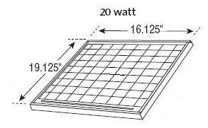 20-watt Gable Mounted Solar Attic Fan