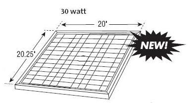 30-watt Gable Mounted Solar Attic Fan