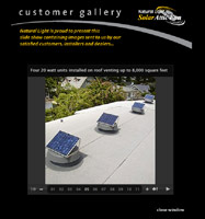 Click for Solar Attic Fan Slideshow (opens in new window)