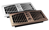Register Vent Booster Fans: AirFlow� Breeze in Almond and Brown