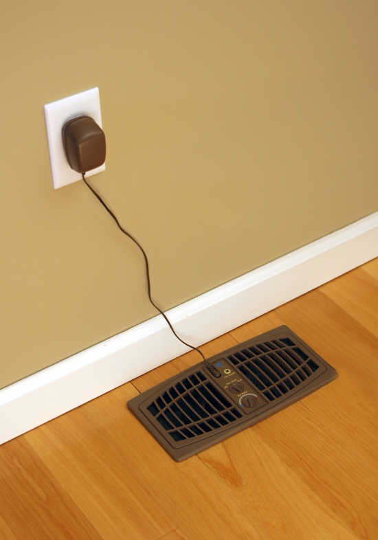 "AirFlow Breeze Register Booster Fan (4"" x 10"") Brown Floor Unit"