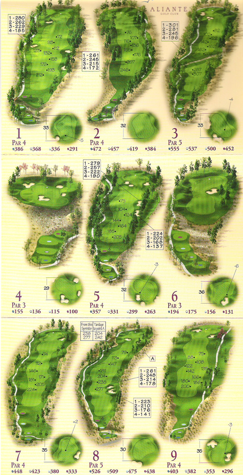 Aliante Golf Club Course Layout