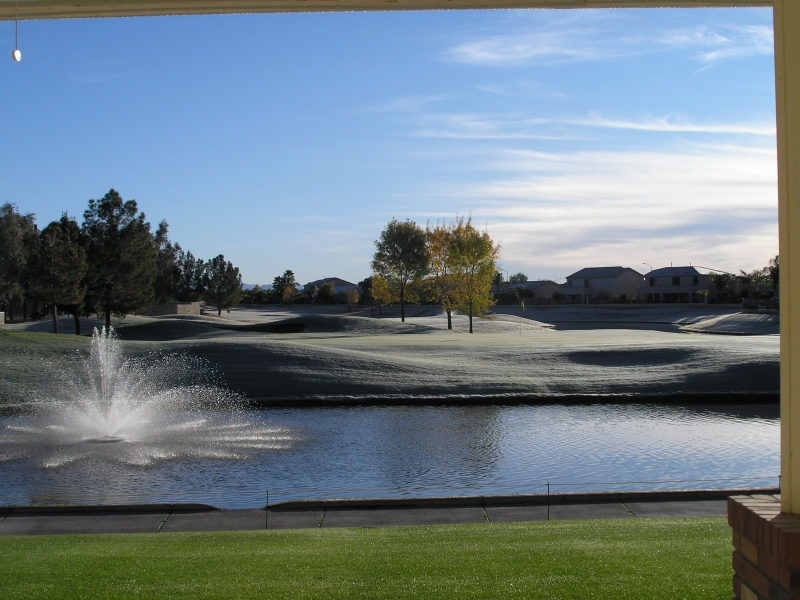 Frost on #9 Green