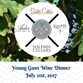 Young Guns Winemaker Dinner - July 21