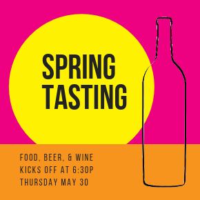 Spring Tasting at Chambers Bay on May 30th