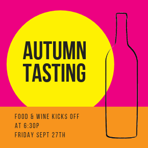 Autumn Tasting at Chambers Bay on September 27th