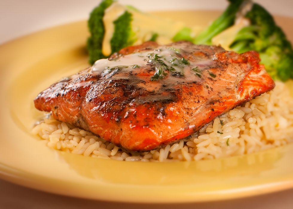 Salmon Filet & Wild Rice