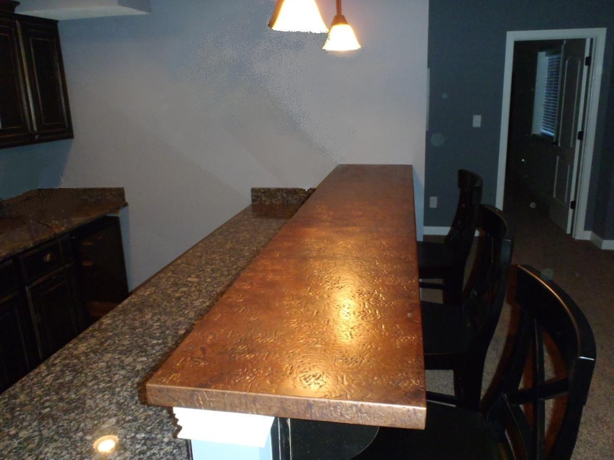 Meval Hammered Copper Bar Top 125 Sqft
