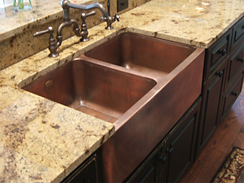 copper kitchen sinks signature kitchen copper sink  circle city, Home decor