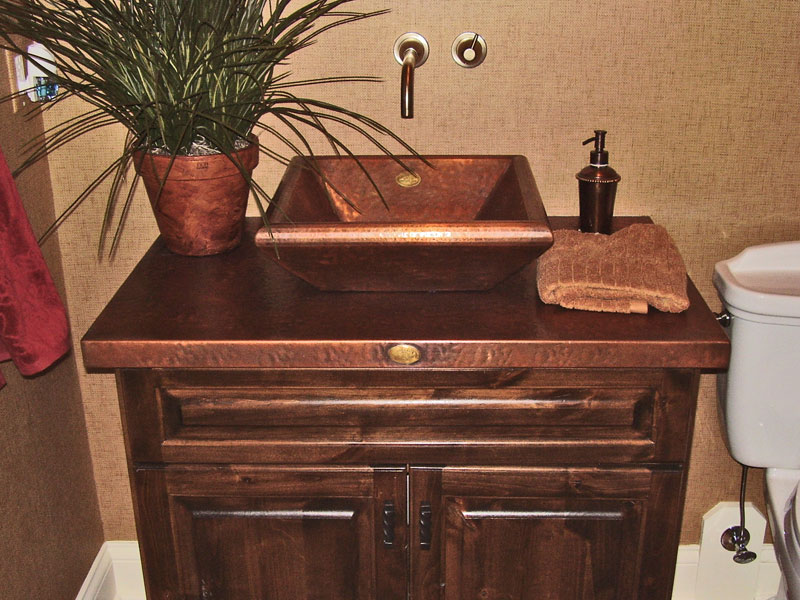 Bathroom Sinks That Sit On Top Of Counter copper bathroom sinks - copper spun custom vanity copper sinks