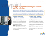 Download: 10 Signs You May Select the Wrong WMS Provider