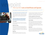Download: 3 Sure Fire Tactics to Avoid Viruses and Spyware