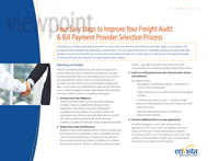 Download: 4 Easy Steps to Improve Your Freight Audit & Bill Payment Provider Selection Process