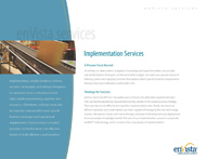 Download: Implementation Services Brochure