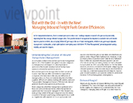 Download: Out with the Old - In with the New! Managing Inbound Freight Fuels Greater Efficiencies