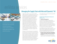 Download: Managing the Supply Chain with Microsoft Dynamics® AX Brochure