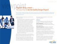 Download: Program Management – The Glue That Binds the Facility Design Project