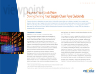 Download: Strong Supply Chain Pays Dividends