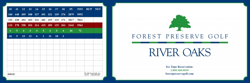 River Oaks Scorecard Back