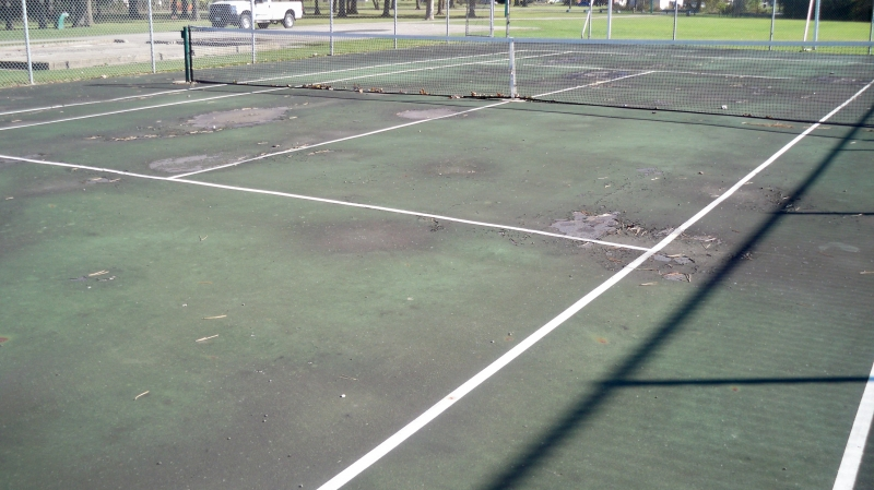 Tennis Court renovations needed