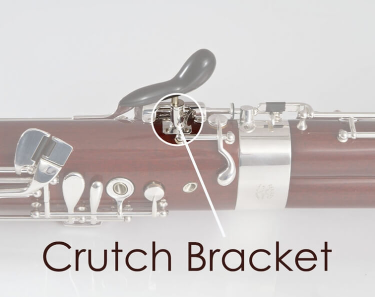 "Crutch Bracket for 3/16"" Stems, Silver Plated"