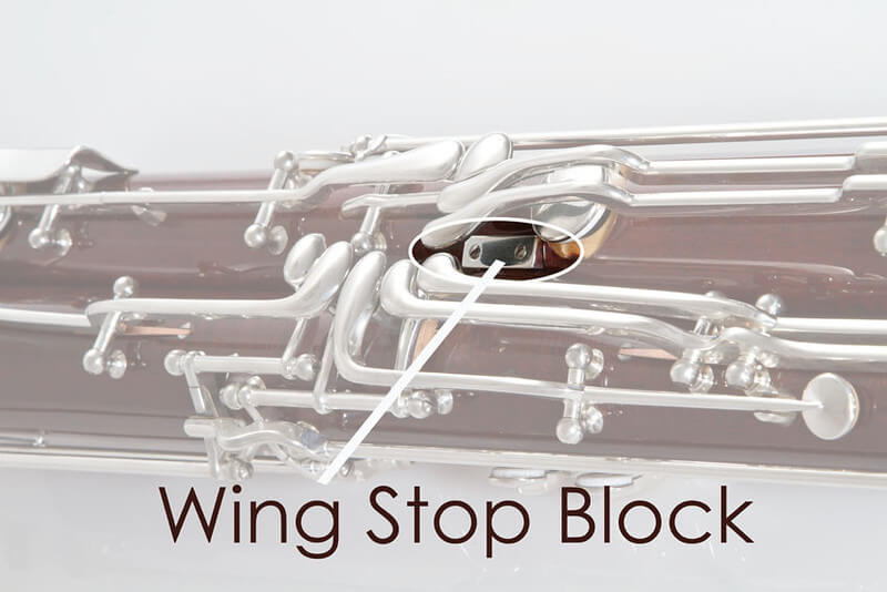 Wing Stop Block, Silver Plated