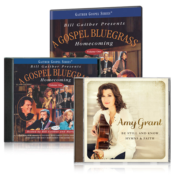 Gospel Bluegrass Homecoming Vol. 1 w/bonus Amy Grant: Be Still & Know -  Hymns CD