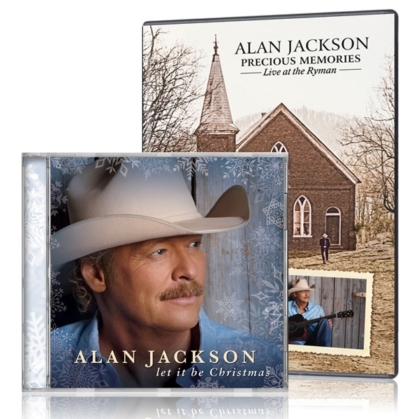 Alan Jackson: Precious Memories DVD w/bonus Alan Jackson: Let It Be Christmas CD