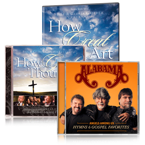 How Great Thou Art DVD/CD w/bonus Alabama: Angels Among Us CD