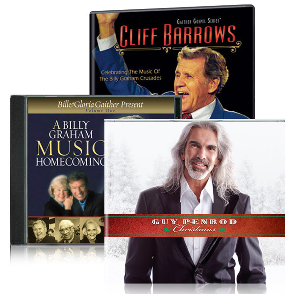 Cliff Barrows DVD w/ A Billy Graham Music Homecoming CD w/bonus Guy Penrod Christmas CD