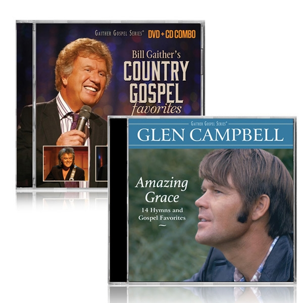 Bill Gaithers Country Gospel DVD/CD w/Glen Campbell Amazing Grace CD