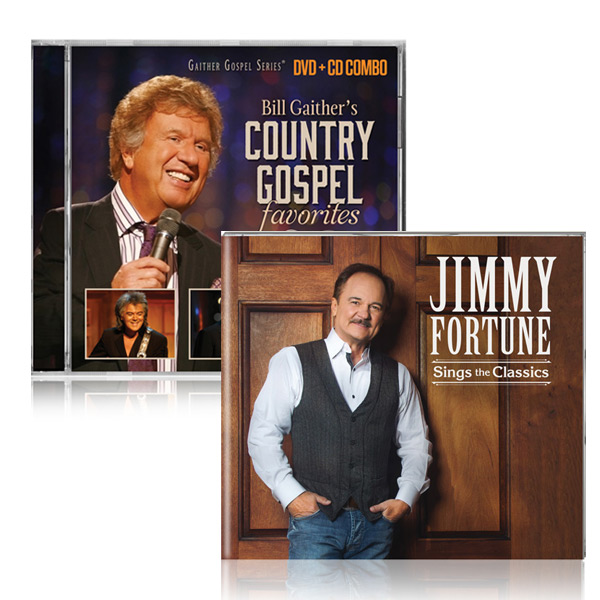 Bill Gaithers Country Gospel DVD/CD w/bonus Jimmy Fortune: Sings The Classics CD