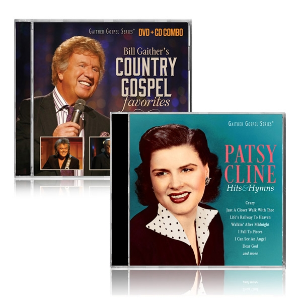 Bill Gaithers Country Gospel DVD/CD w/Patsy Cline CD