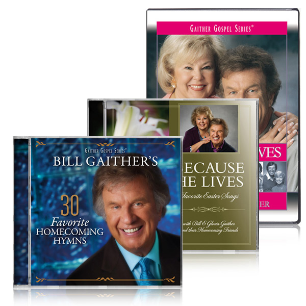 Because He Lives DVD/CD & Bills 30 Favorite Homecoming Hymns CD