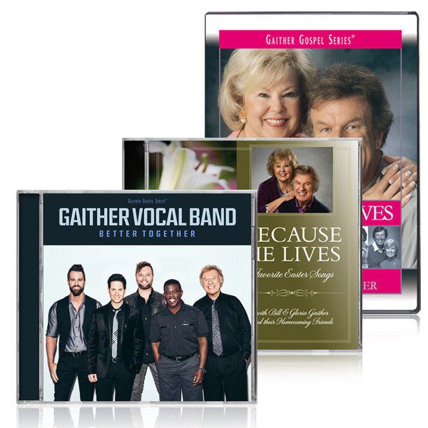 Because He Lives DVD/CD w/bonus GVB: Better Together CD