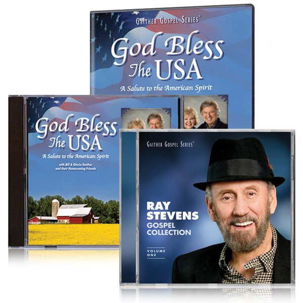 God Bless America DVD/CD w/bonus Ray Stevens Gospel Collection CD