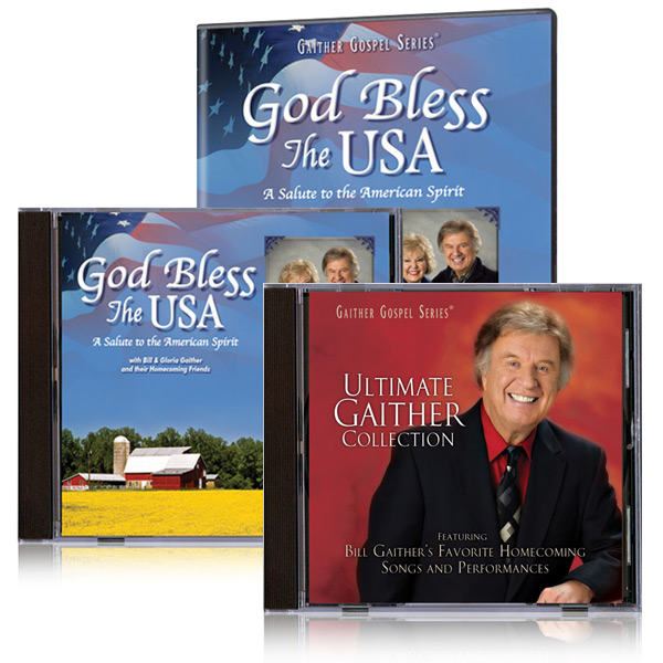 God Bless The USA DVD & CD With Bonus Ultimate Gaither Collection CD