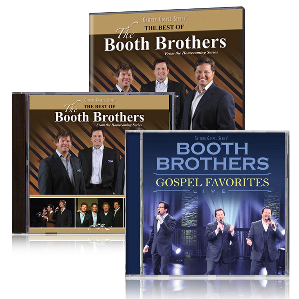 Best Of The Booth Brothers DVD/CD w/bonus Booth Brothers Gospel Favorites Live CD