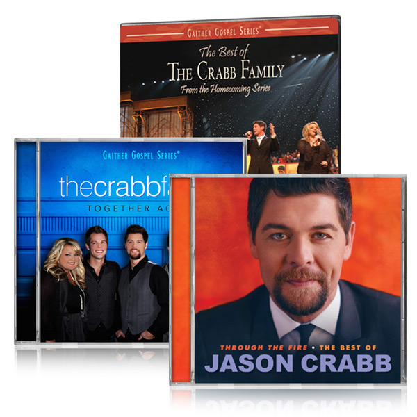Best Of The Crabb Family DVD, Crabb Family Together Again CD, w/bonus Best Of Jason Crabb CD